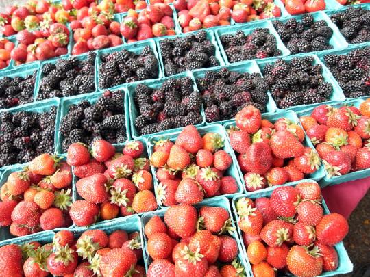 彩り豊かなイチゴ・ラズベリー
