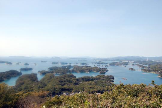 展海峰から九十九島の眺め