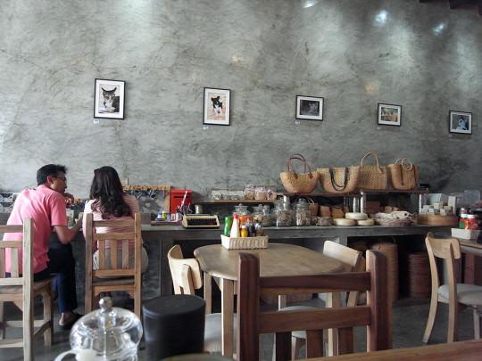 プーケットタウンのギャラリーカフェ