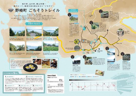 野崎町トレイルマップ裏面(2016)